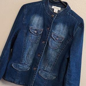 Chadwick's Tailored Jean Jacket Size 10